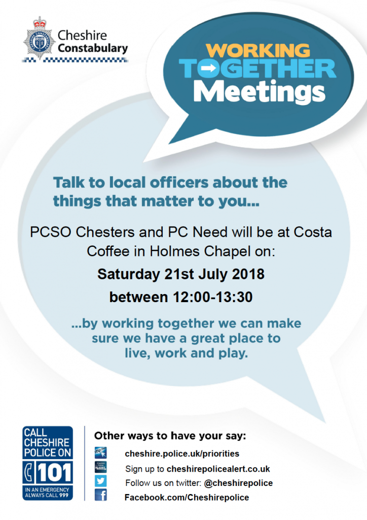 Cheshire Constabulary Working Together Meetings