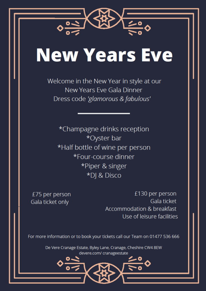 Cranage Estate New Years Eve Gala