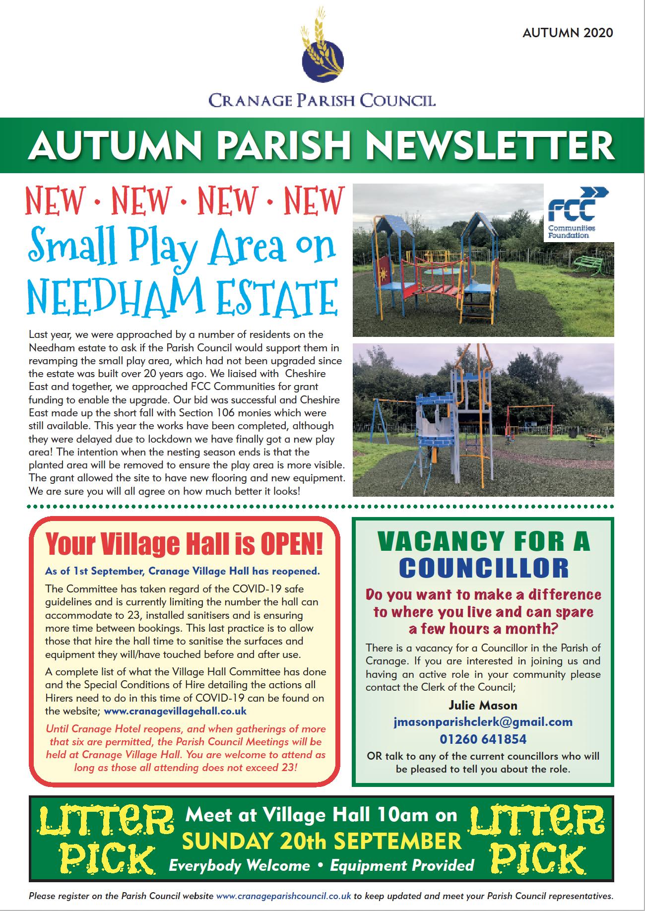 Autumn Parish Newsletter 2020